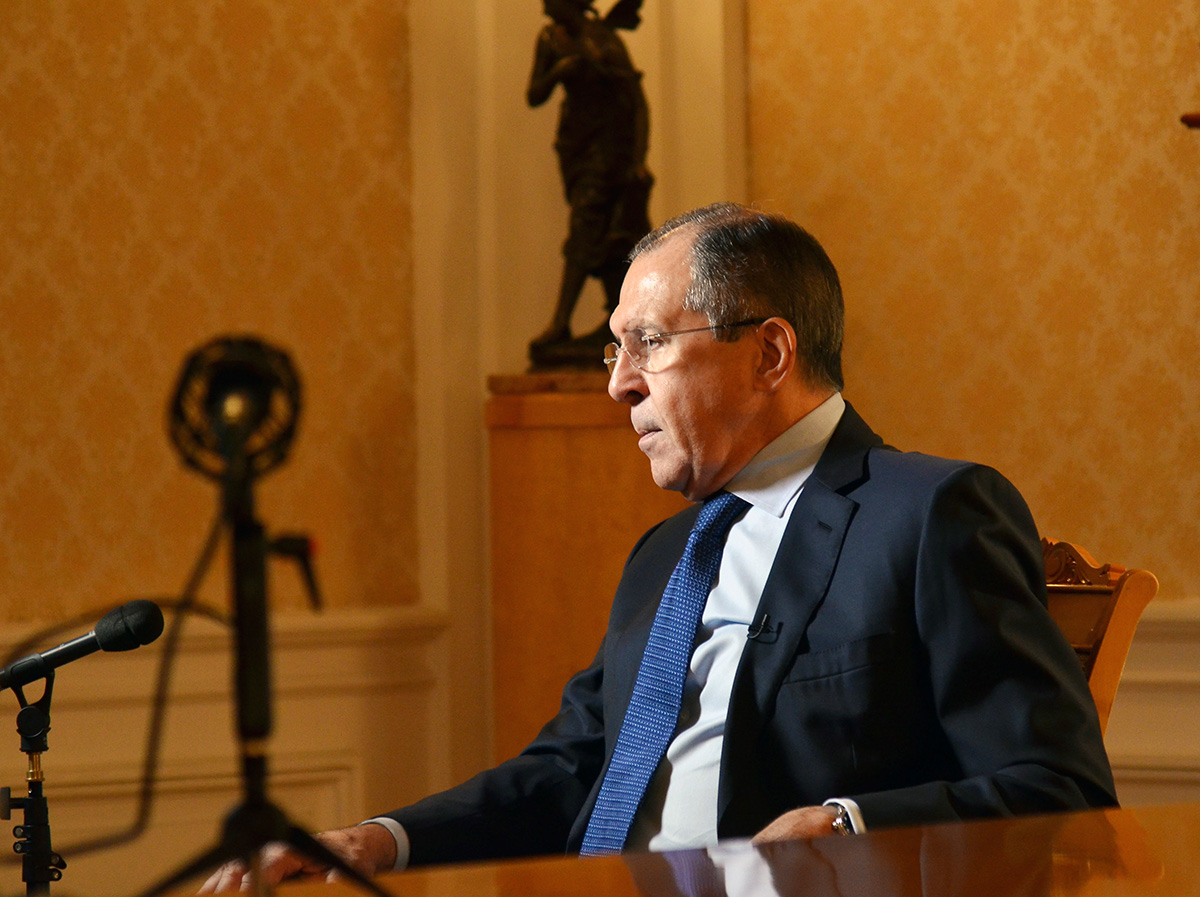 Foreign Minister Sergey Lavrov's interview with the Interfax News Agency