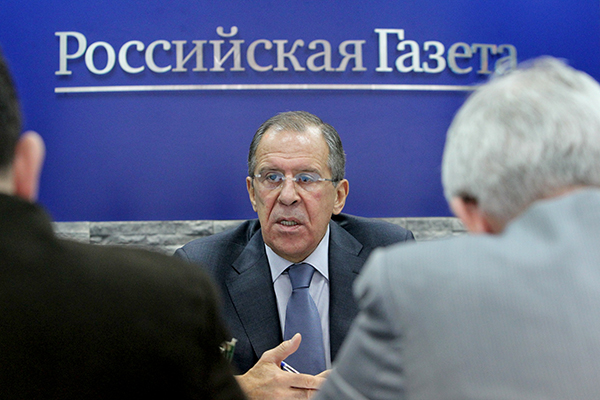 Interview of FM Sergey Lavrov to Rossiyskaya Gazeta on November 19, 2013