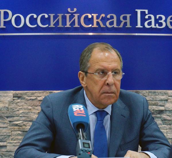 Sergey Lavrov answers media questions at a Working Breakfast organised by Rossiyskaya Gazeta