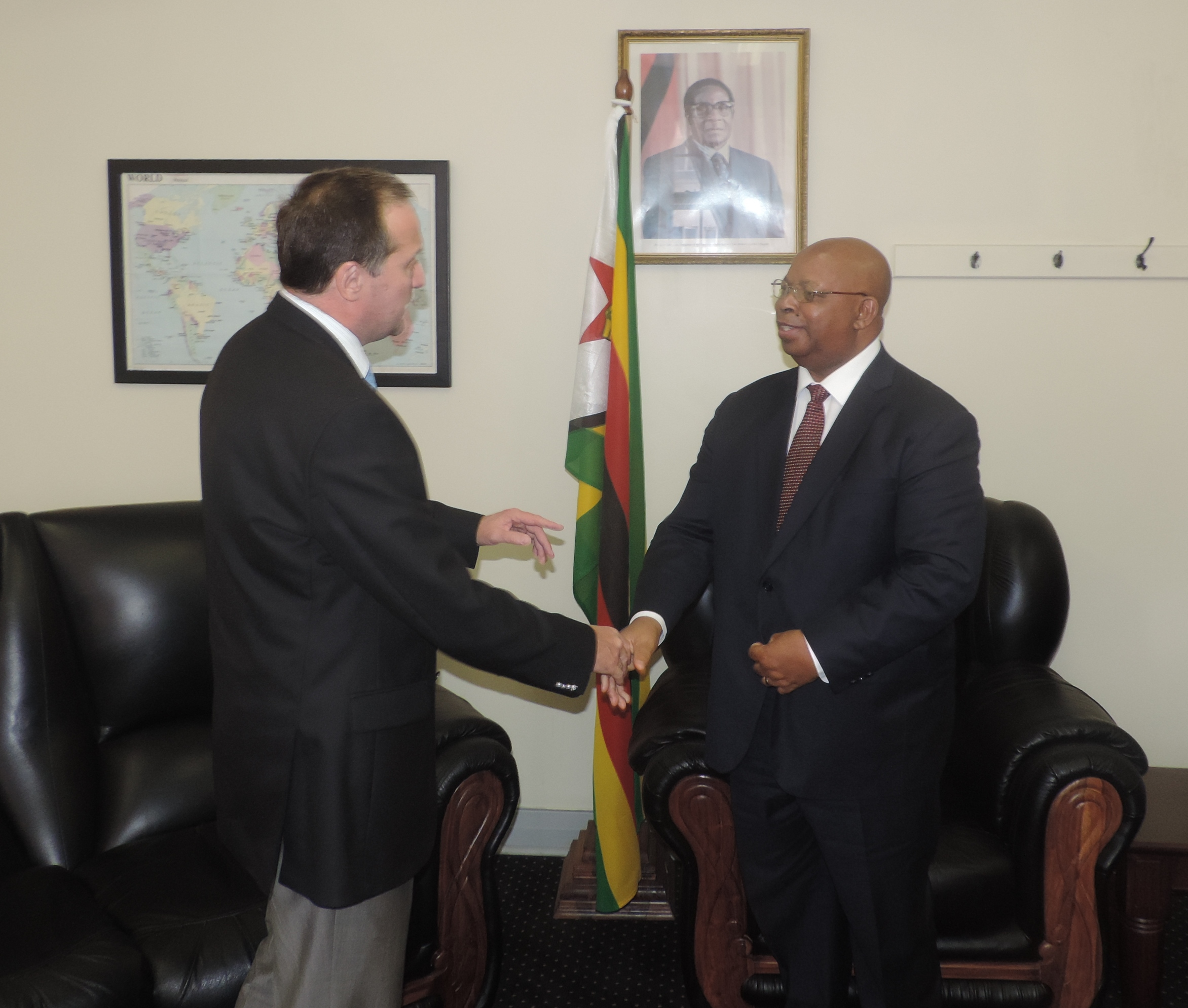 Russian Ambassador meets Speaker of the National Assembly of Zimbabwe
