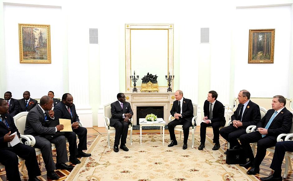 Meeting with President of Zimbabwe Robert Mugabe
