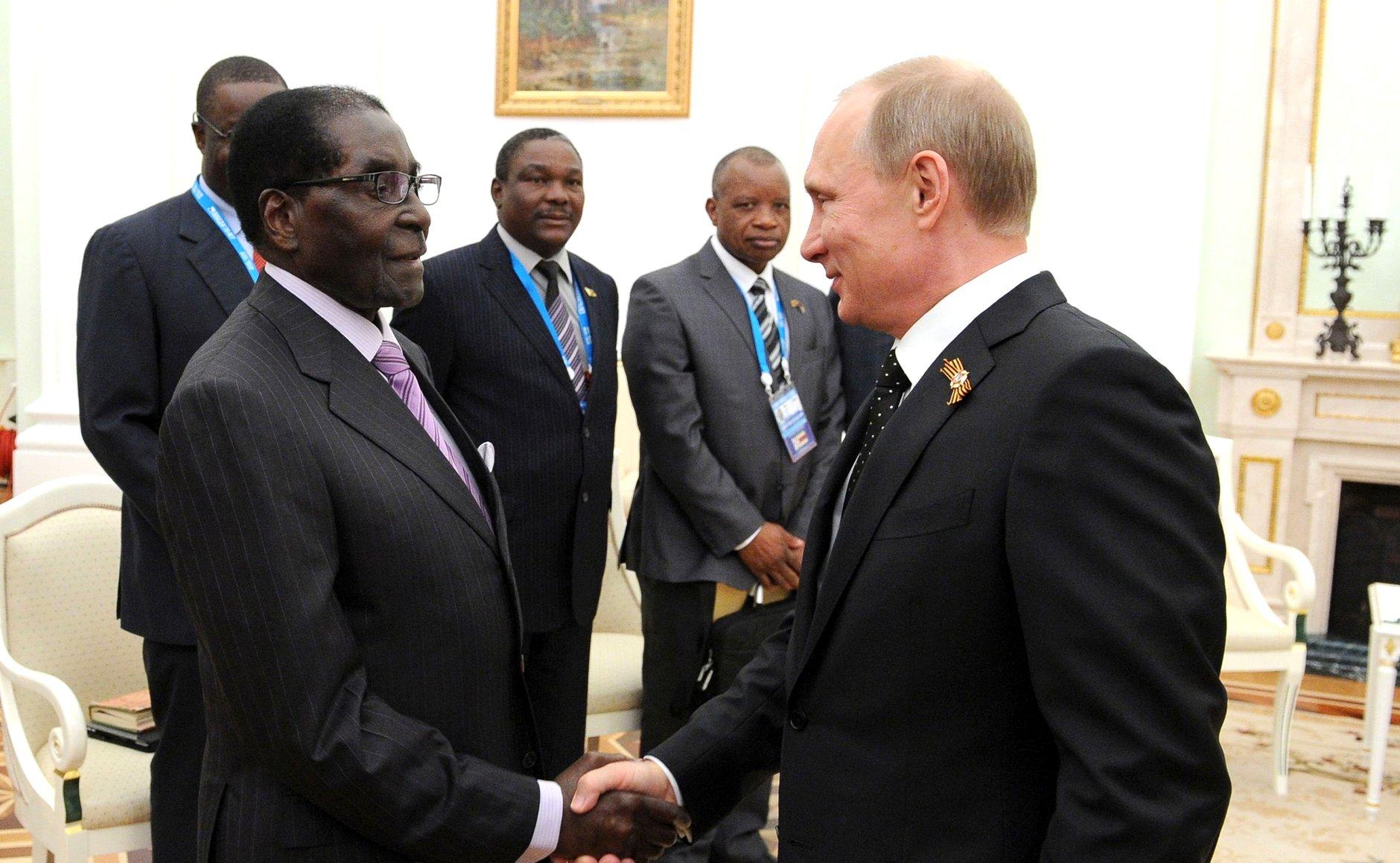 President Vladimir Putin congratulated Robert Mugabe with Independence Day