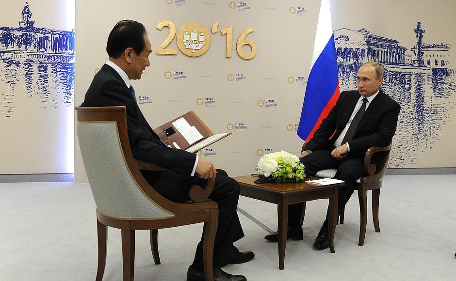 Vladimir Putin's Interview to the Xinhua News Agency of China